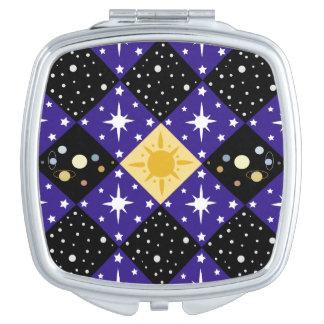 Raum-Muster Taschenspiegel