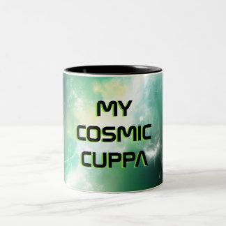 Raum-Nebelfleck-Tasse Zweifarbige Tasse