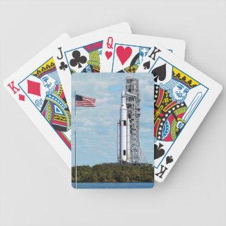 Raum-Produkteinführungs-Systemrocket Launchpad der Bicycle Spielkarten