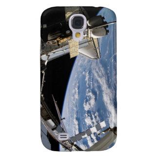 Raumfähre Atlantis und ein Soyuz Raumfahrzeug Galaxy S4 Hülle