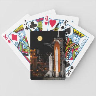 Raumfähre-Entdeckung und Mond Bicycle Spielkarten
