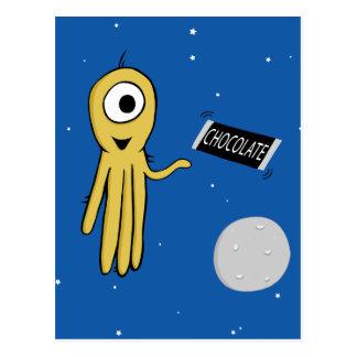 Raumkrake Postkarte