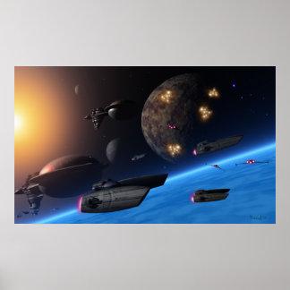 Raumreisende Plakatdruck