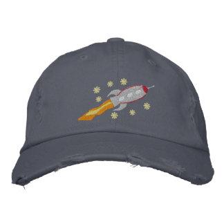 Raumschiff gestickter Hut Bestickte Kappen