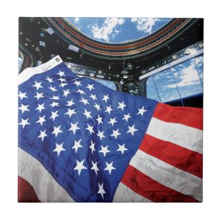 Raumstations-Flagge-Umlaufbahn der Erde Keramikfliese