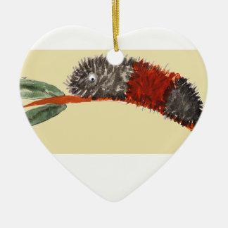 Raupen-Verzierung Keramik Herz-Ornament