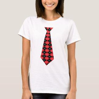 Rauten-Krawatten-Shirt T-Shirt