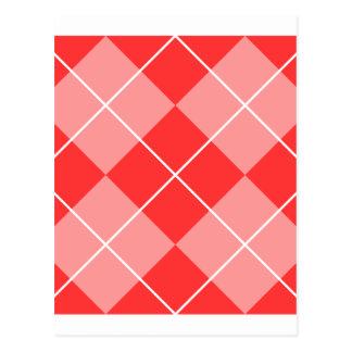 Rauten-Muster-Bild Postkarten