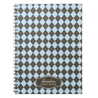Rauten-Muster-kundenspezifisches Notizbuch Schoko
