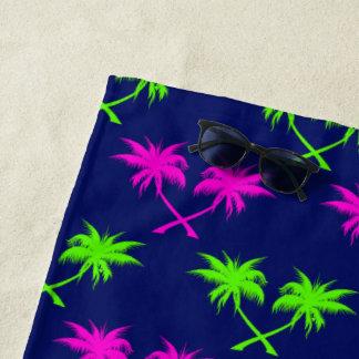 Rauten-Palmen blau Strandtuch