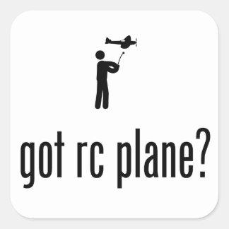 RC Flugzeug Quadrataufkleber