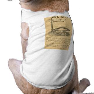 Reardon u. die Eulen-Seife des Sohns - Vintage Anz Ärmelfreies Hunde-Shirt