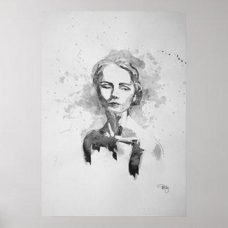 Rebecca im Tinten-Druck Poster