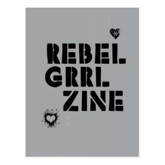 RebellenGrrl Zine Postkarte
