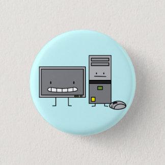 Rechnerfamilie ES Schirm-Maus-PC Turm Runder Button 3,2 Cm