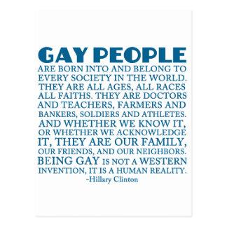 Rechte der Homosexuellen Postkarte