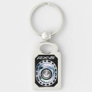 Rechteck-Metall RX-8 Keychain Silberfarbener Rechteckiger Schlüsselanhänger