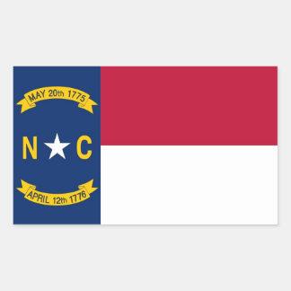 Rechteckaufkleber mit Flagge des North Carolina Rechteckiger Aufkleber