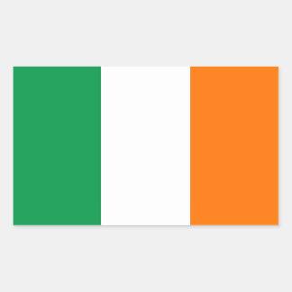 Rechteckaufkleber mit Flagge von Irland Rechteckiger Aufkleber