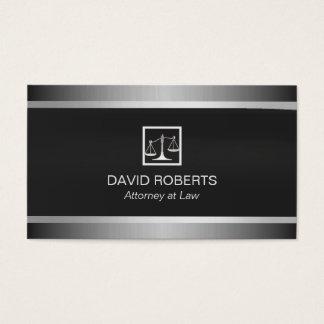 Rechtsanwalt-Rechtsanwalts-berufliches Schwarzes Visitenkarten