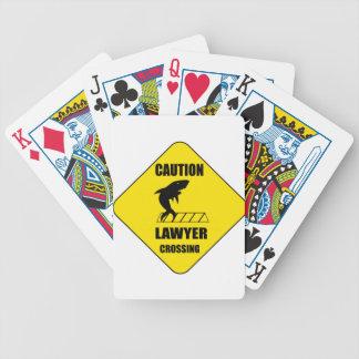 Rechtsanwalt-Überfahrt mit Haifisch Bicycle Spielkarten