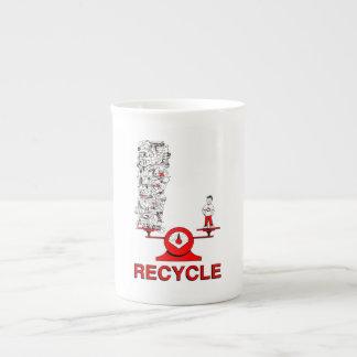 Recyceln Sie Abfall-Knochen-China-Tasse Prozellantasse