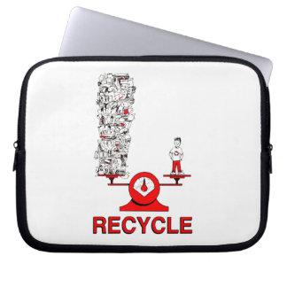 Recyceln Sie Abfall-Laptop-Hülse Laptop Computer Schutzhülle