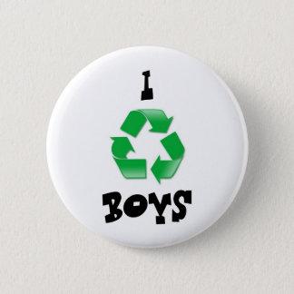 recyceln Sie, I, JUNGEN Runder Button 5,7 Cm