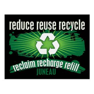 Recyceln Sie Juneau Postkarte