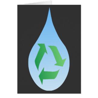 Recyceln Sie Wasser-Karte Karte