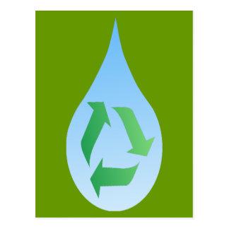 Recyceln Sie Wasser-Postkarte Postkarten