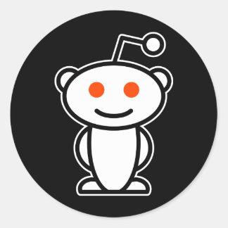 Reddit alien runder aufkleber