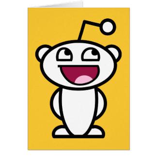 Reddit fantastisches Gesicht Grußkarte