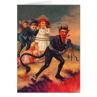 Redheaded Krampus Weihnachtskarten Grußkarte