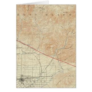 Redlands Viereck, das San- Andreasriß zeigt Karte