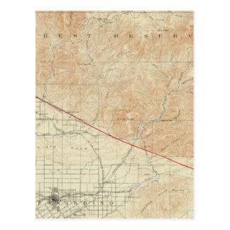 Redlands Viereck, das San- Andreasriß zeigt Postkarte