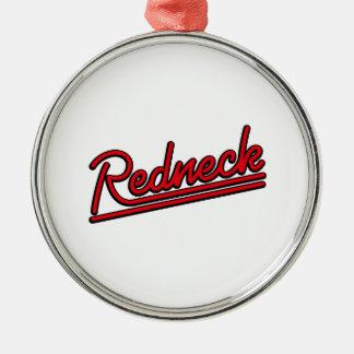 Redneckneonlicht Silbernes Ornament