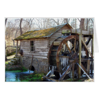 REEDfrühlings-Mühle im Januar Karte
