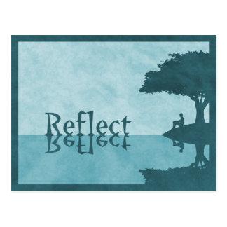 Reflektieren Sie einfach Postkarte
