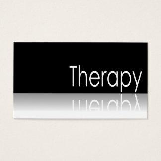 Reflektierender Text - Therapie - Visitenkarte