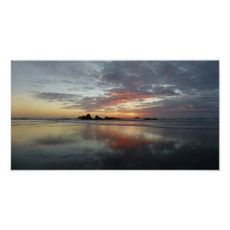 Reflektierter Sonnenuntergang Poster