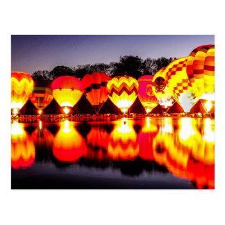 Reflexionen der Heißluft-Ballone Postkarte