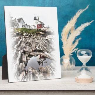 Reflexionen von Pemaquid Fotoplatte