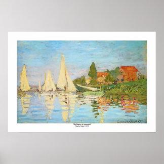 Regatta in Argenteuil durch Claude Monet Poster