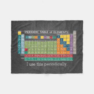 Regelmäßig Periodensystem der Element-Tafel Fleecedecke