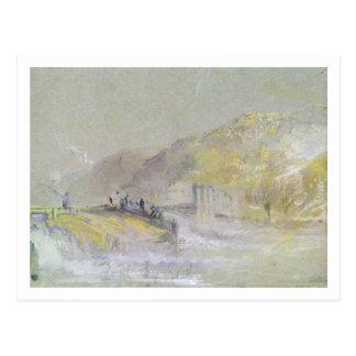 Regelwidrig durch Gott: Fluss-Landschaft mit der Postkarte