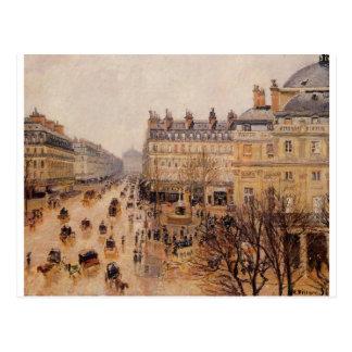 Regen-Effekt Place du Theatre Francais durch Postkarte
