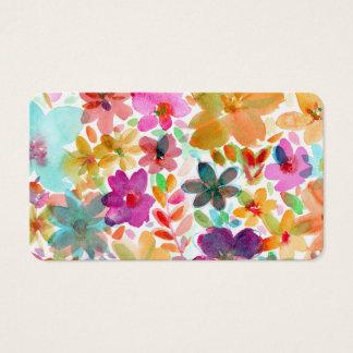 Regenbogen-Aquarell-Blüte BlumenBoho Visitenkarte