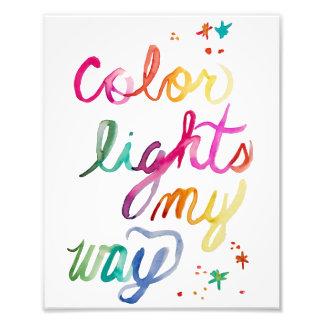 Regenbogen-Aquarell-Bürsten-Skript-heller Fotodruck