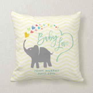 Regenbogen-Baby, Elefant-Baby-Liebe Zierkissen
